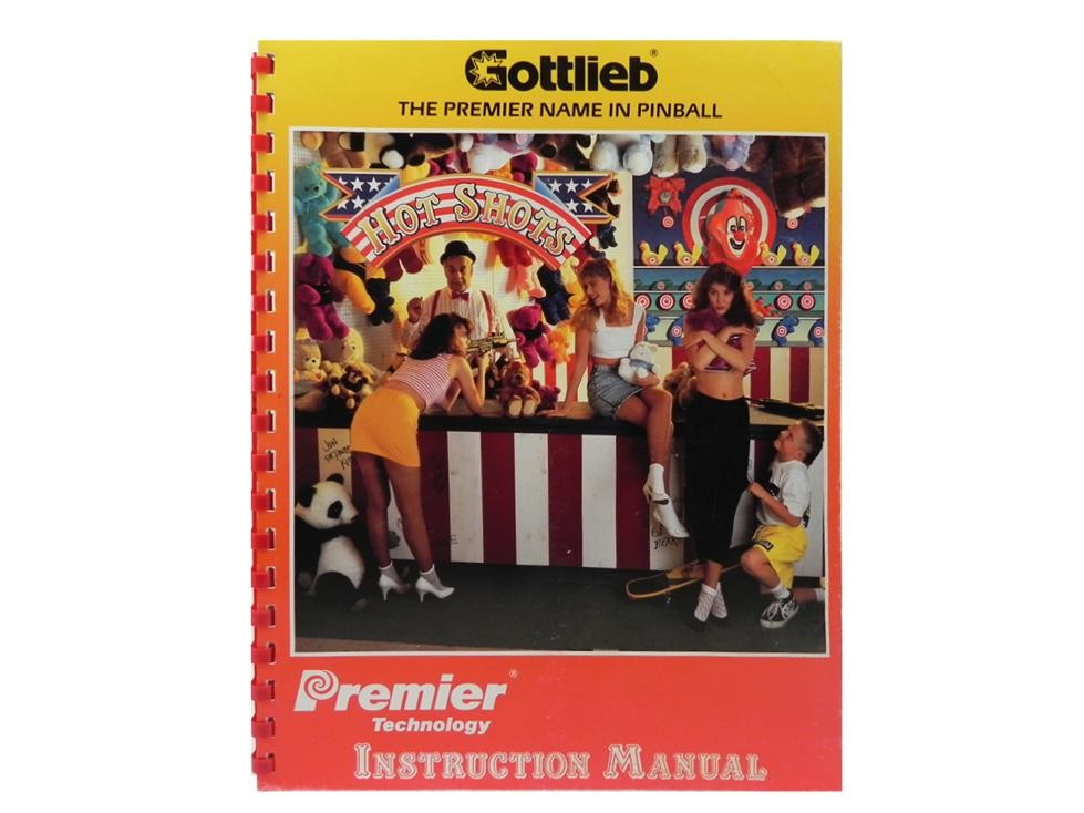 Hot Shots manual OEM issue from Gottlieb Premier pinball