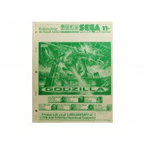 Godzilla SEGA Pinball OEM Operations Manual pinball parts
