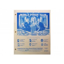 World Poker Tour Manual OEM Issue from Stern Pinball