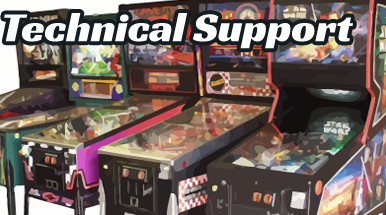 Get Pinball Technical Support at K's Arcade